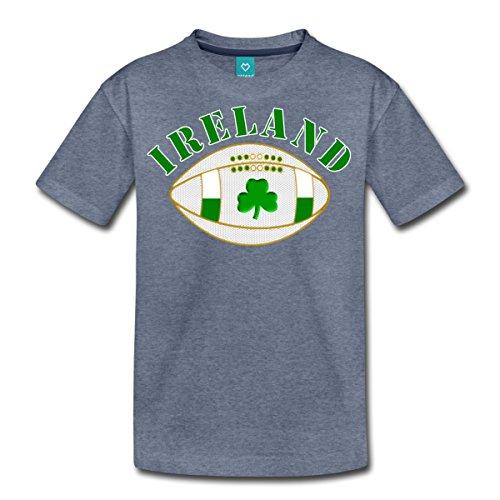 Spreadshirt Ireland Rugby Ball With Irish Shamrock Teenage Premium T-Shirt