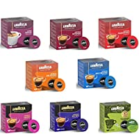 Lavazza A Modo Mio Coffee Capsules 8 Packs, 8 Different Blends, Total 116 pods