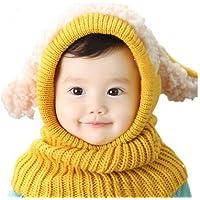 Asremit Child Bufanda de Invierno Wool Baby Cloak Warm Cape Puppy Chal Kid Hat Durante 6-36 Meses