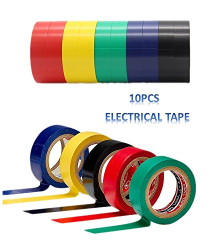dikete-10pcs-pvc-insulating-electrical-tape-mixed-colour-06-inch-wide-x-23-feet-long-15-mm-x-7-m