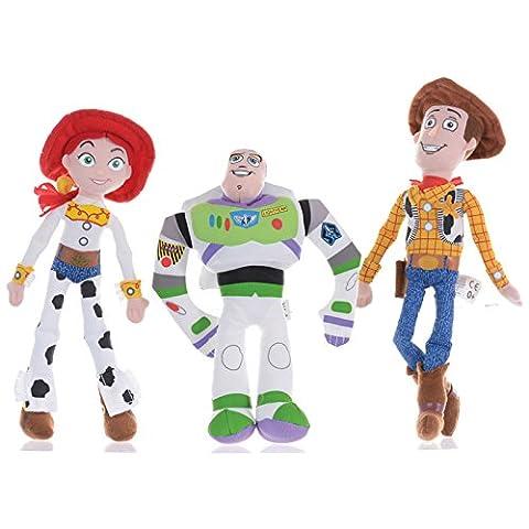 Disney Toy Story Buzz, Woody et Jessie Jeu de 8 pouces peluche