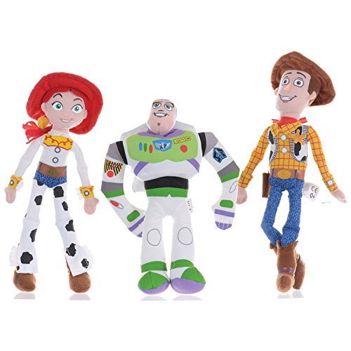 Disney Toy Story Buzz, Woody & Jessie 8 Inch Plush (Woody Disney)