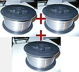 3 Rollen Fülldraht für Schweißen ohne Gas Schweissdraht 0,9 mm für alle MIG MAG Schutzgas Schweißgeräte