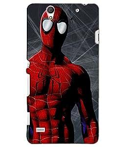 Citydreamz Spiderman Hard Polycarbonate Designer Back Case Cover For Sony Xperia C4/C4 Dual Sim/E5303 E5306 E5353