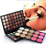Xmansky Schimmer Matt Mineral Pigment Lidschatten Palette Bilden Set Matt Beauty Make-up (95 Farbe)