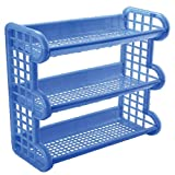 #5: Plastic Mini Rack- Strong & Beautifully Designed & Both Floor and Wall Mounted (1 Pc)