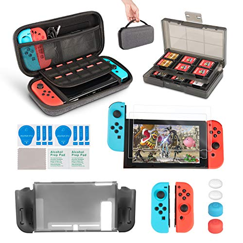 InnoAura 11 1 Kit accesorios Nintendo Switch, funda
