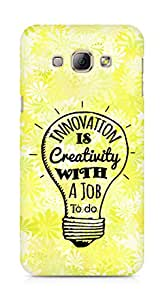Amez Innovation is Creativity with a Job to do Back Cover For Samsung Galaxy A8