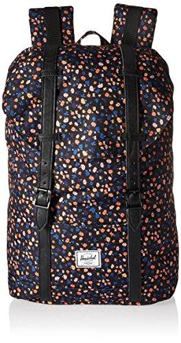 Herschel Retreat Mid-Volume Rugzak Black Mini Floral/Black Synthetic Leather
