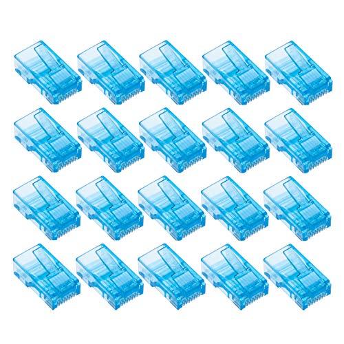 Cat5e Rj-45-crimp-anschlüsse (RJ45 Crimpstecker von Keple   Steckverbinder Koppler Modulator Ethernet Buchse Kunststoff Kopfenden LAN netzwerkstecker   Modularstecker für Cat6 Cat6e Cat5 Cat5e Kabel   Blau, 20 Stück)