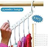 HomePro 8-teiliger Wunderaufhänger für über 40 Gegenstände–Mehr Platz im Kleiderschrank– Verdreifache den Platz im Schrank - Wunderaufhänger