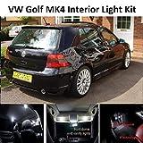 High Elephant - Kit de luces LED para interior de coche para Golf MK4 IV, xenón blanco puro