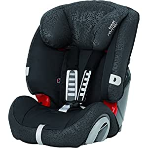 Britax Römer EVOLVA 123 Combination Car Seat, Group 1/2/3 (9 - 36 kg), Collection 2017, Black Thunder