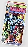 Les Inhumains DC Marvel Super Heroes vintage Comic Coque (iPhone 4/4S Blanc rigide Housse/Coque de Protection en plastique