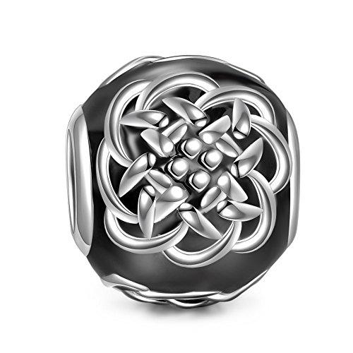 NinaQueen Los Tatuajes Celtas artificiales Abalorio de mujer de plata de ley Charms beads fit Pandora pulseras