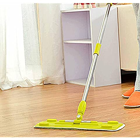 Fashion household MOP, stainless steel rod special flat MOP for wood floor, gluing can insert towel