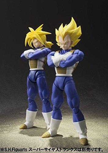 S.H. Figuarts Dragon Ball Z Super Saiyan Super Vegeta 13.5 cm aprox. PVC & ABS Painted Action Figure [Japan] , color… 3