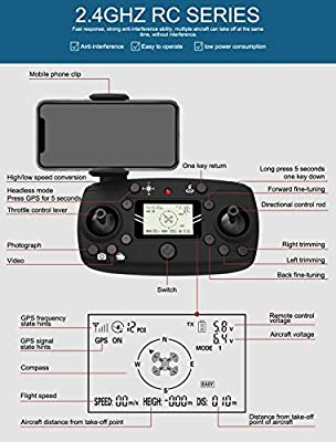 Wang Folding brushless Four-axis vehicle, GPS positioning 1080PWiFi map aerial shooting UAV, automatic return drone
