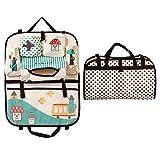Cuteshower Multi-function Vehicle Storage Bag Car Backseat for Kids Organizer Travel Storage Bag (Green)