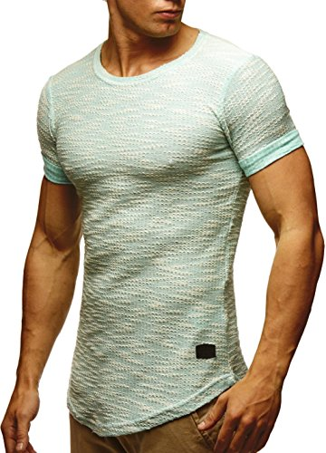 LEIF NELSON Herren T-Shirt Tiefer Rundhalsausschnitt   Basic Shirt Kurzarm  Oversize   Männer T-Shirt lang Kleidung Männer 9bcbddfab1