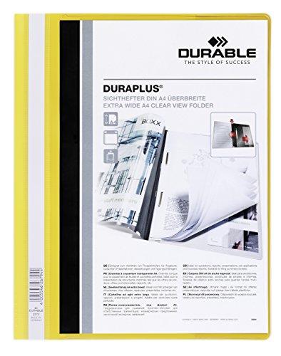 DURABLE Hunke & Jochheim Angebotshefter DURAPLUS®, strapazierfähige Folie, DIN A4, gelb