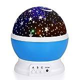 Baby Nachtlicht Projektor Sternenhimmel,WAWJ Dekoratives Licht für Kinder Erwachsene,Schlafzimmer Wohnzimmer wie Weihnachten & Fest Geschenk (Blau)