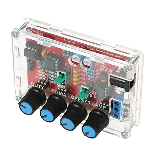 Hylotele ICL8038 Generador de señales de alta precisión Kit de bricolaje Seno/triángulo/Cuadrado/Salida de diente de sierra 5Hz ~ 400kHz Amplitud de frecuencia ajustable