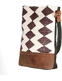 Handmade Rug And Leather 13 Inch Tote Shoulder Bag Stylish Shopping Casual Bag Foldaway Travel Bag
