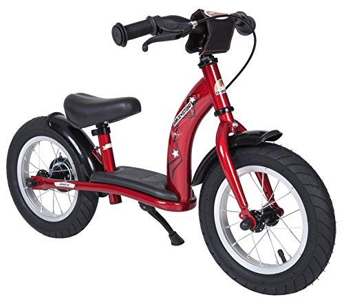 BIKESTAR Kinder Laufrad Lauflernrad Kinderrad für Jungen und Mädchen ab 3-4 Jahre ★ 12 Zoll Classic Kinderlaufrad ★ Rot