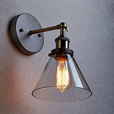 Vintage Industrial Glass Pendant Wall / Ceiling Light Adjustable Ø 22cm - The Retro Boutique ®
