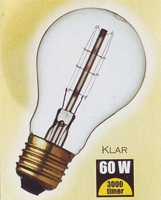DANLAMP Schmucklampe / Glühlampe rustikal 60W / 240V / E27 / antik