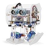 Elegoo Arduino Roboter, Penguin Bot Arduino Zweibeiniger Roboter Baukasten mit Tutorial, STEM Kit für Hobbybastler, STEM Toys für Kinder und Erwachsene (Klar)