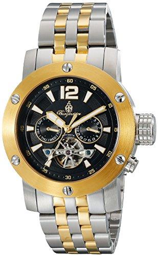 Burgmeister BM329-227 - Reloj para hombres, correa de acero inoxidable chapado color dorado
