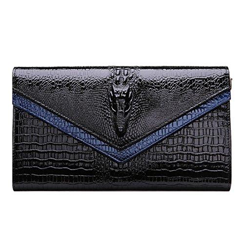 HT  Genuine Leather Crossbody Bag, Damen Clutch Rot