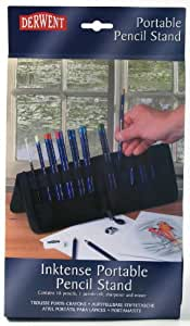 Derwent Inktense Pencils Set of 18 with Portable Pencil Stand