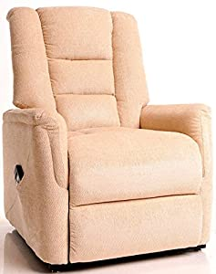 The Bradfield Riser Recliner Chair in Fabric. Single Motor, Easy-Clean Lift and tilt Rise Chair