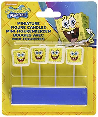Amscan - 997785 - 4 Bougies avec Mini Figurine Bob l