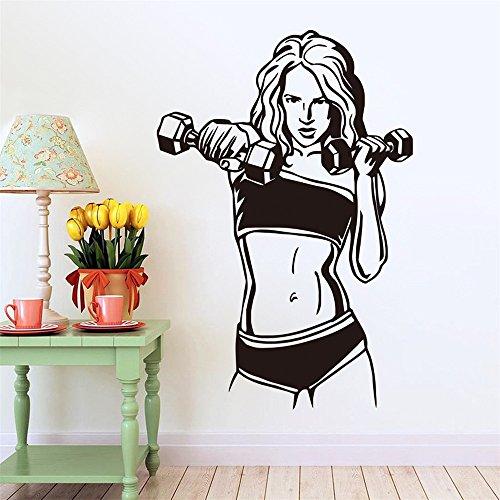 Preisvergleich Produktbild BTJC Hot neue überdimensionale Hanteln weibliche Fitness geschnitzt Wohnzimmer Schlafzimmer Hintergrund Wandtattoo Starke Sinn für dreidimensionale