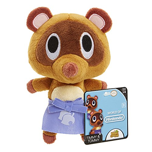 Nintendo Animal Crossing - Timmy and Tommy Mario Plush - Racoon - 20cm 8""