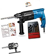 ToolsCentre Rotary Hammer Combo Kit with Drill Bit and Multi Tool (20mm, Blue)