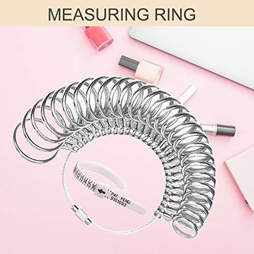G-wukeer Edelstahl Ring Sizer Fingerring Größe Messwerkzeug Ring Sizer Messgerät Set Kreis Modelle (1-13 A-Z) (Versteckte Messer, Schmuck)