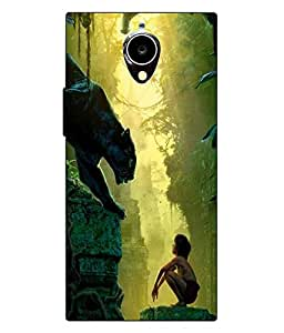 Make My Print Jungle Book Printed Green Hard Back Cover For Gionee Elife E7