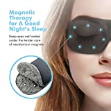 Sleeping Eye Mask, Magnetic Therapy Sleep Mask Eye Covers Sleep Blindfold by PaiTree , Super Soft - 3D Contoured Eye Space -Professionally-Made Night Mask Eye Shade For Woman & Man