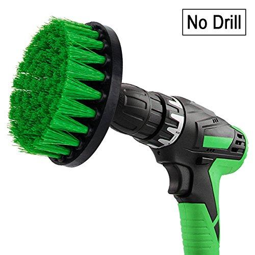 Drill brush - Spazzola trapano per la pulizia delle setole di media durezza di 13cm per piastrelle pavimento cucina bagno matto