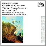Johann Stamitz Clarinet Concerto, Thee Symphonies