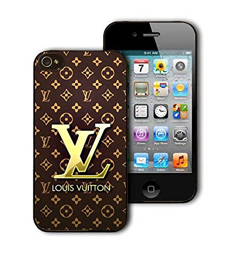 Louis & Vuitton Coque / Etui / Case, Iphone 4 4s Coque / Etui / Case, Ultra Thin Hard Plastic Perfect Fit Slim Thin Anti Scratch Awesome [White] Coque / Etui / Case Protection Printed