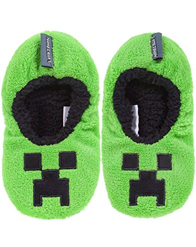 Vanilla Underground Minecraft Creeper Boy's Slipper Socks (2.5 UK)