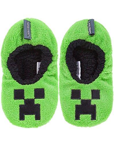 Vanilla Underground Minecraft Creeper Boy's Slipper Socks (2 UK)