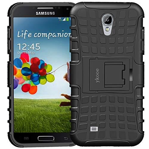 ykooe Cover Samsung Galaxy S4, Silicone Custodia Samsung S4 Doppio Strato a Ibrida Phone Caso con Supporto per Samsung Galaxy Galaxy S4 i9505