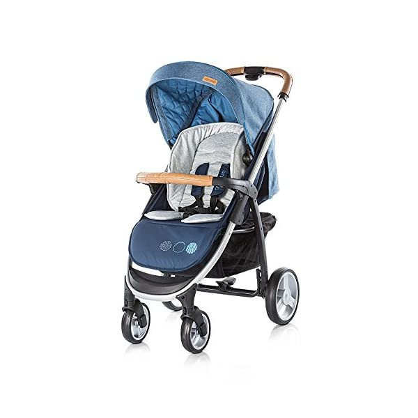 Chipolino Baby Stroller and Carry Cot Avenue, Navy Chipolino Can also be transformed into a carry cot Comfortable upholstered carrycot with mattress and carry handle Single front swivel lockable wheels 1